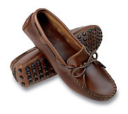 Minnetonka Womens Straight Plug Leather Driving Moccasins - A142652