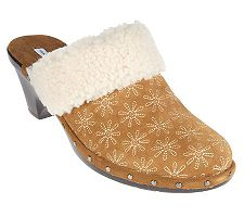 Isaac Mizrahi Live! Suede Embroidered Daisy Clogs