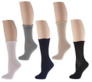 Passione Amalfi Set of 5 Luxury Crew Socks - A213852