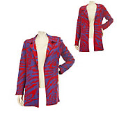 George Simonton Animal Jacquard Reversible Open Front Cardigan - A221152