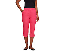 Denim & Co. How Timeless Pull-on Stretch Color Denim Capri Pants - A223052