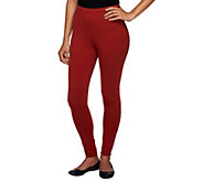 Women with Control Petite Fit Pull-On Knit Leggings - A235952
