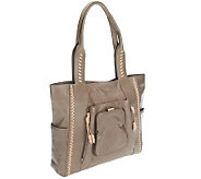 Muxo by Camila Alves Glazed Leather Tote - A237452