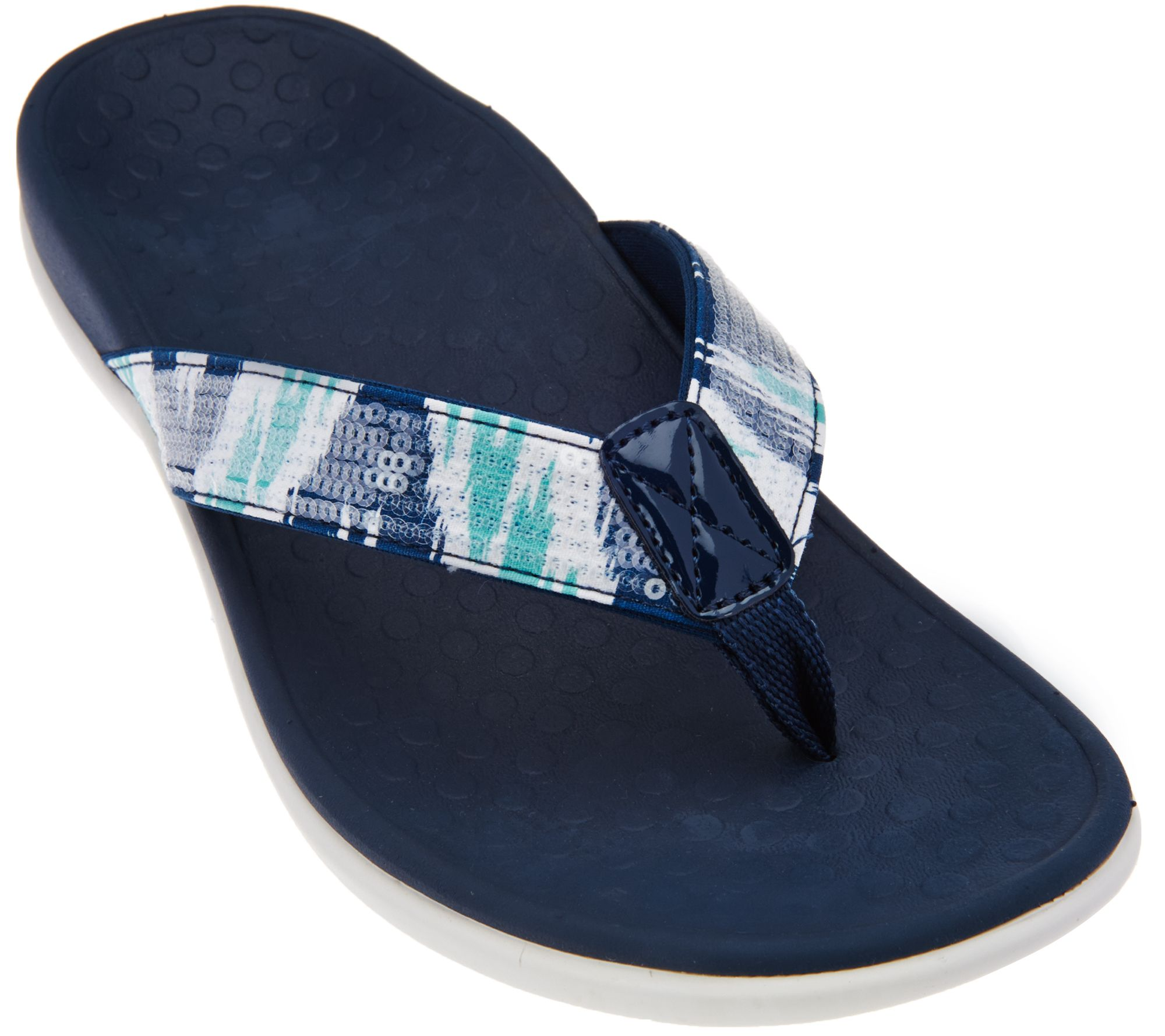 Vionic Orthotic Thong Sandals - Tide Sequins