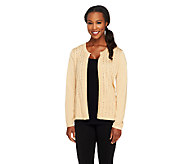 Joan Rivers Sequin Embellished Long Sleeve Knit Cardigan - A257752