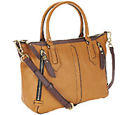 orYANY Dana Diamond Italian Leather Zip Top Satchel - A258152