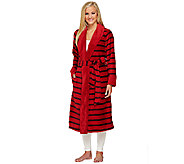 ED On Air Plush Stripe Print Robe by Ellen DeGeneres - A261652