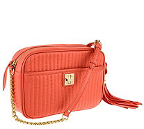 Isaac Mizrahi Live! Bridgehampton Lamb Leather Camera Bag - A262952