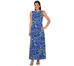 Liz Claiborne New York Petite Paisley Print Knit Maxi Dress