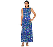 Liz Claiborne New York Petite Paisley Print Knit Maxi Dress - A263452