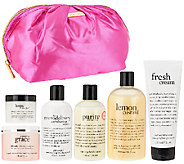 philosophy clean scents & clean skin collection w/ makeup bag - A265252