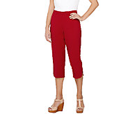 Susan Graver Chelsea Stretch Comfort Waist Pull-On Capri Pants - A265852