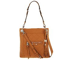 As Is Aimee Kestenberg Leather Quilted Serena Cr...