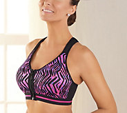 Breezies Zipper Front Racerback Sports Bra - A269452