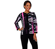 Bob Mackies Printed Knit Cardigan - A273152