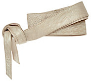 G.I.L.I Embossed Leather Reversible Obi Wrap Belt - A275352