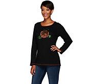 As Is Quacker Factory Pumpkin Waffle Long Sleeve T-Shirt - A278152