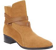 C. Wonder Suede Ankle Boots w/ Strap Details - Taylor - A279952