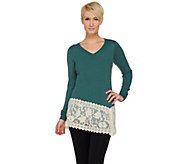 As Is LOGO Lavish by Lori Goldstein Cotton Cashmere Sweater - A281052