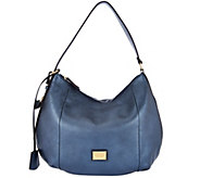 Tignanello Pebble Leather RFID Adjustable Hobo w/ Lock Detail - A282452