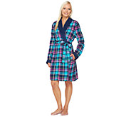 As Is Carole Hochman Flannel & Microfleece Robe - A282852
