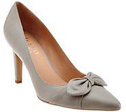 As Is Franco Sarto Pointed Toe Pumps with Bow Detail - Arabella - A283752