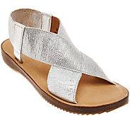 As Is Adam Tucker Stretch Criss Cross Strap Sandals - Alyssa - A284452