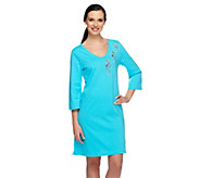 As Is Quacker Factory By the Sea 3/4 Sleeve Knit Cover-Up - A284952