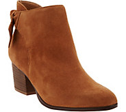 Sole Society Suede Tie-Back Ankle Boots - Binx - A287052
