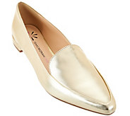 As Is Isaac Mizrahi Live! Metallic Leather Loafers - A287952