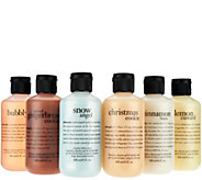 philosophy 6-piece holiday shower gel collection - A290552