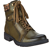 Earth Leather Lace-up Ankle Boots - Everest - A296852