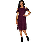 Isaac Mizrahi Live! Special Edition Lace Flutter Sleeve Sheath Dress - A297952