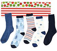 As Is Passione Set of 5 Luxury Crew Socks - A298352