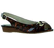 Easy Street Chayla Peep Toe Slingback Wedges - A332152