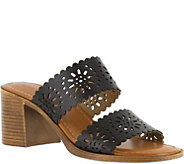 Tuscany by Easy Street Block Heel Two Strap Sandals - Susana - A356752