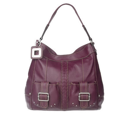 Tignanello Leather Hobo Bag with Key Fob