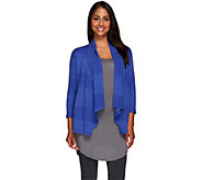 Joan Rivers Drape Front Textured Knit Cardigan - A221953