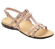 Vionic w/ Orthaheel Leather T-Strap Sandals - Coro - A239853