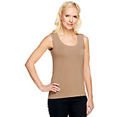 Linea by Louis DellOlio Rounded Neck Knit Tank - A252353