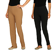 Women with Control Petite Set of 2 Slim Leg and Boot Cut Pants - A256153