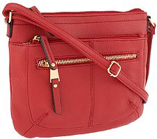 Tignanello Pebble Leather Multi-Pocket Crossbody Bag