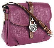 As Is Dooney & Bourke Samba Leather Flap Crossbody - A262753