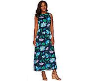 Liz Claiborne New York Regular Floral Print Maxi Dress - A263453