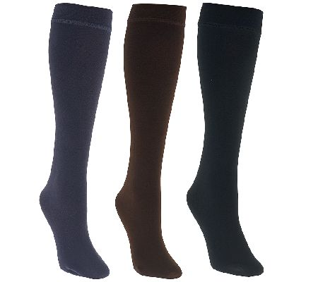 Muk Luks 3 Pairs Faux Mink Lined Trouser Socks Page 1