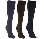 MUK LUKS 3 Pairs Faux Mink Lined Trouser Socks - A268653
