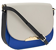 As Is Marc Fisher Harper Leather Saddle Bag with Strap - A270153