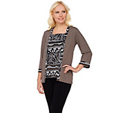 Bob Mackies 3/4 Sleeve Jacket and Tribal Print Tank Set - A273153
