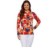 Isaac Mizrahi Live! Floral Crewneck Pullover Sweater - A273753