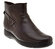 As Is Clarks Leather Ankle Boots - Idella Casey - A278553